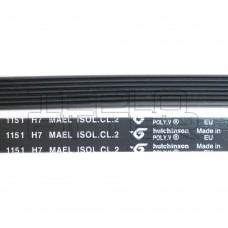 Ремень 1151 H7 длина 1080 мм, черный, hutchinson