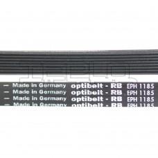Ремень 1185 H8 длина 1145 мм, черный, optibelt