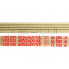 Ремень 1280 J6 длина 1228 мм, белый, megadyne